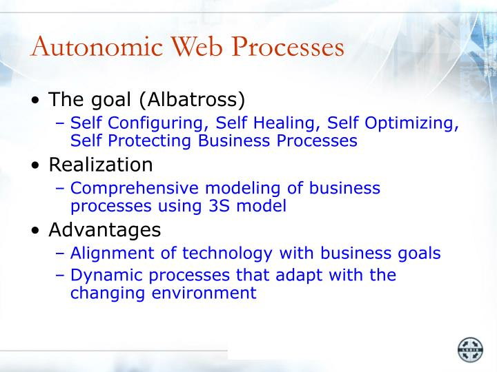 Autonomic Web Processes