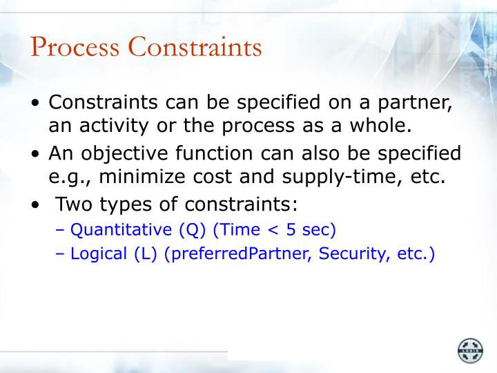 Process Constraints