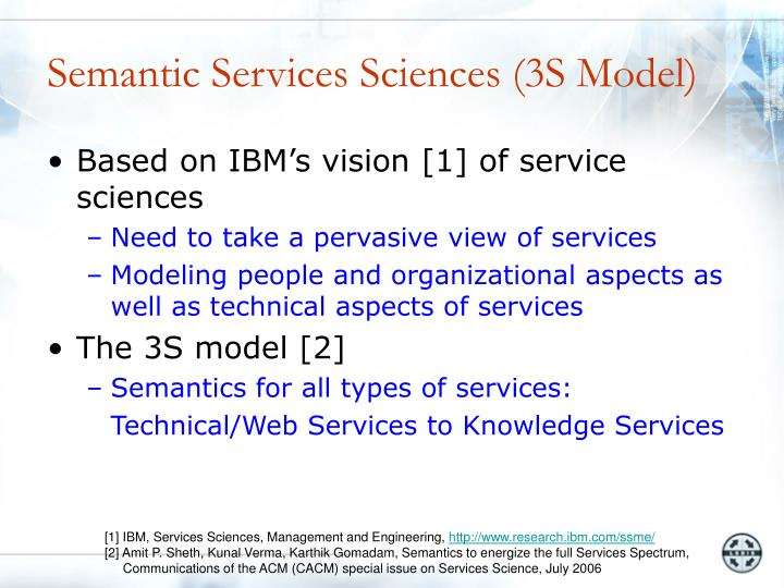 Semantic services sciences 3s model