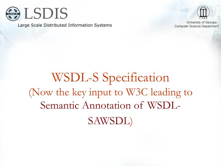 WSDL-S Specification