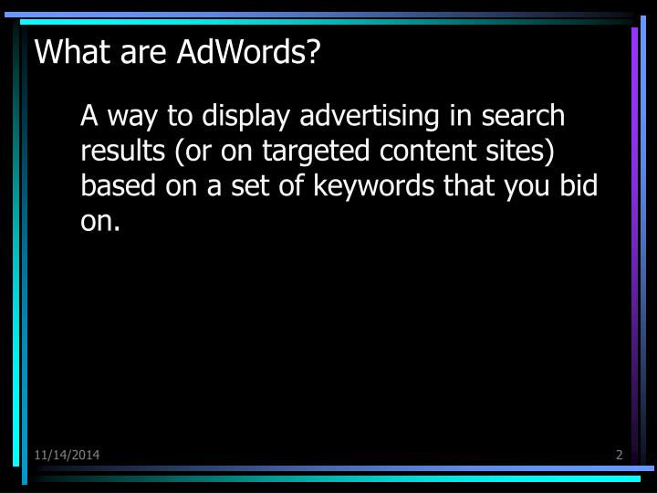What are adwords