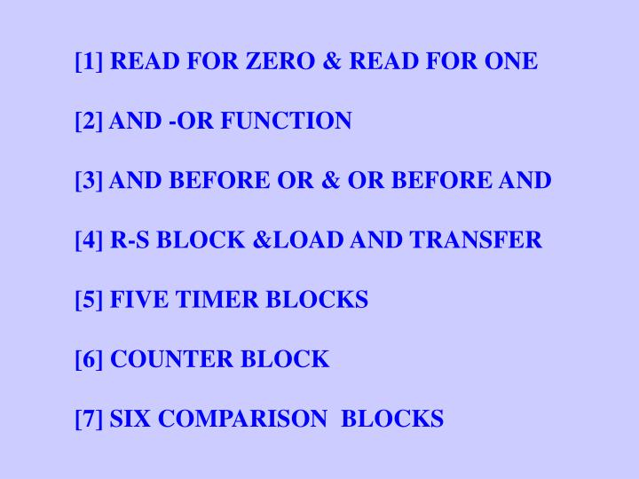 [1] READ FOR ZERO & READ FOR ONE