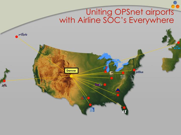 Uniting OPSnet airports