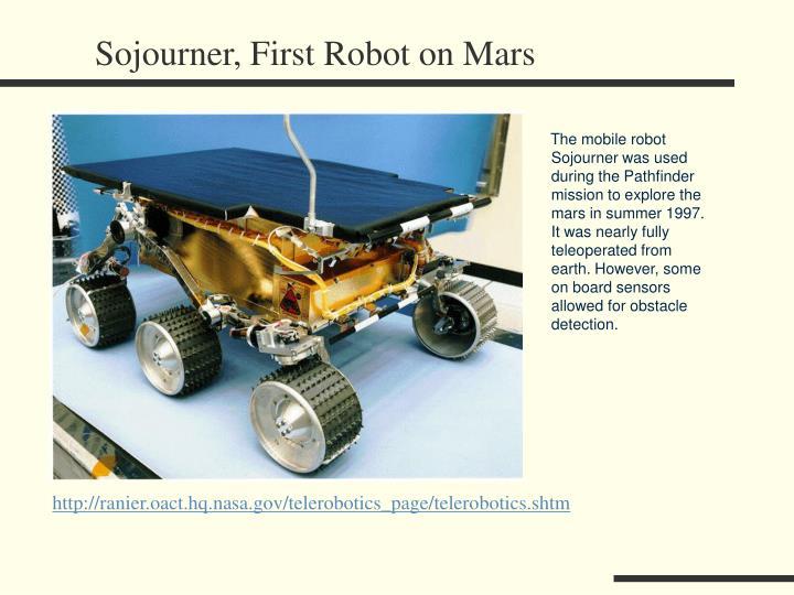 Sojourner, First Robot on Mars