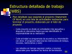 estructura detallada de trabajo wbs