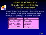 estudio de repetibilidad y reproducibilidad de atributos gu as de aceptabilidad