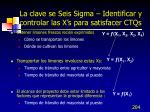 la clave se seis sigma identificar y controlar las x s para satisfacer ctqs