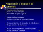 negociaci n y soluci n de conflictos1