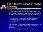 pert program evaluation review technique