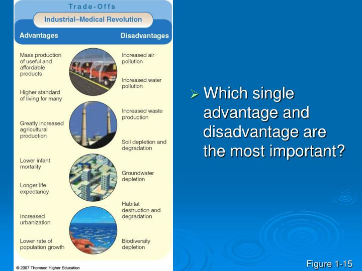 Which single advantage and disadvantage are the most important?