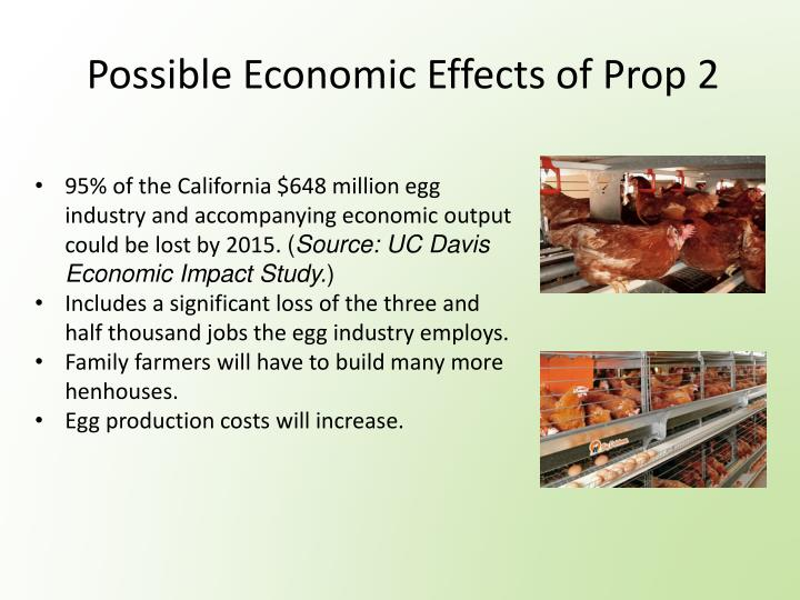 Possible Economic Effects of Prop 2
