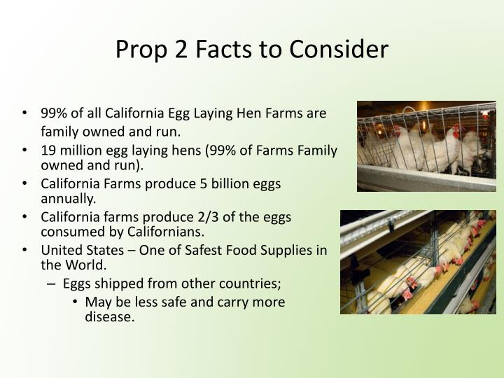 Prop 2 Facts to Consider