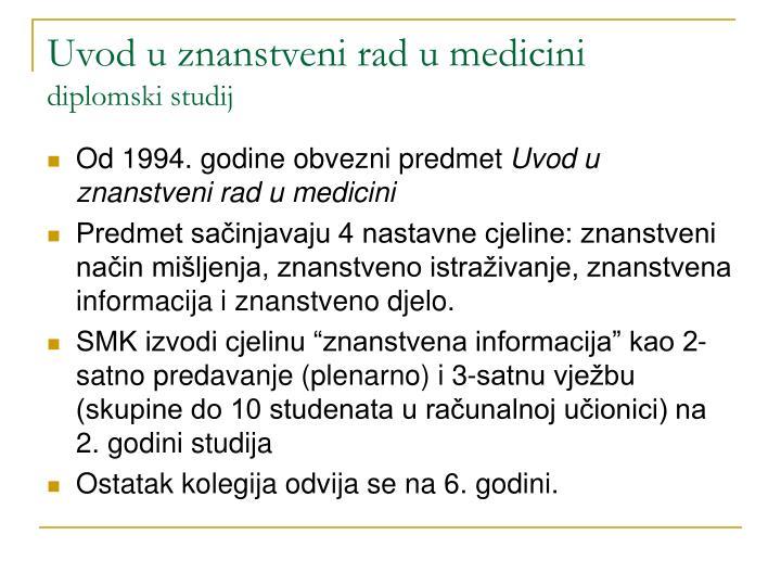 Uvod u znanstveni rad u medicini
