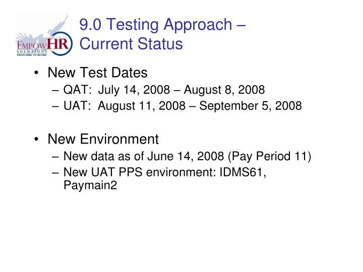 New Test Dates