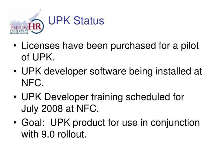 UPK Status