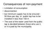 consequences of non payment