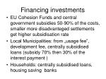 financing investments