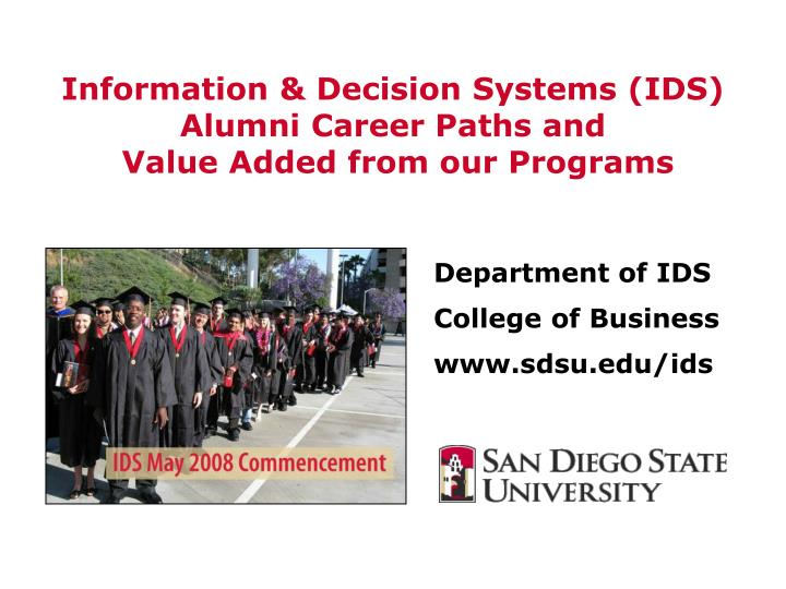 information decision systems ids alumni career paths and value added from our programs n.