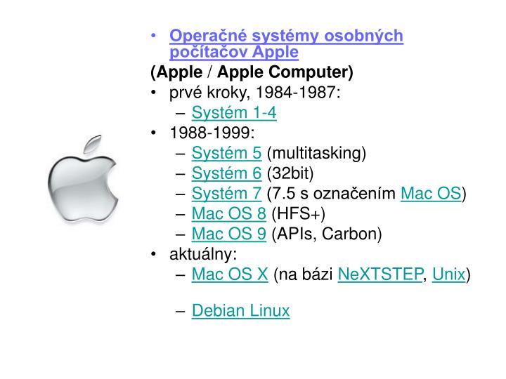 Operačné systémy osobných počítačov Apple
