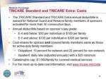 medical coverage tricare standard and tricare extra costs