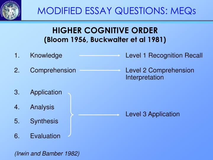 HIGHER COGNITIVE ORDER