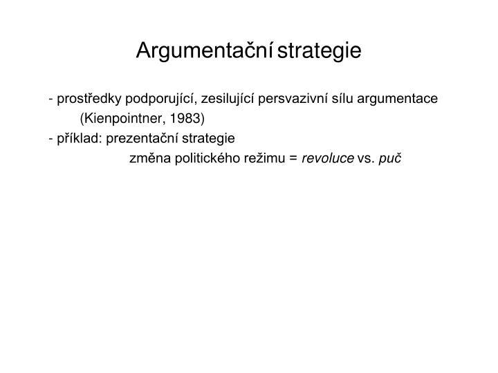 Argumenta n strategie