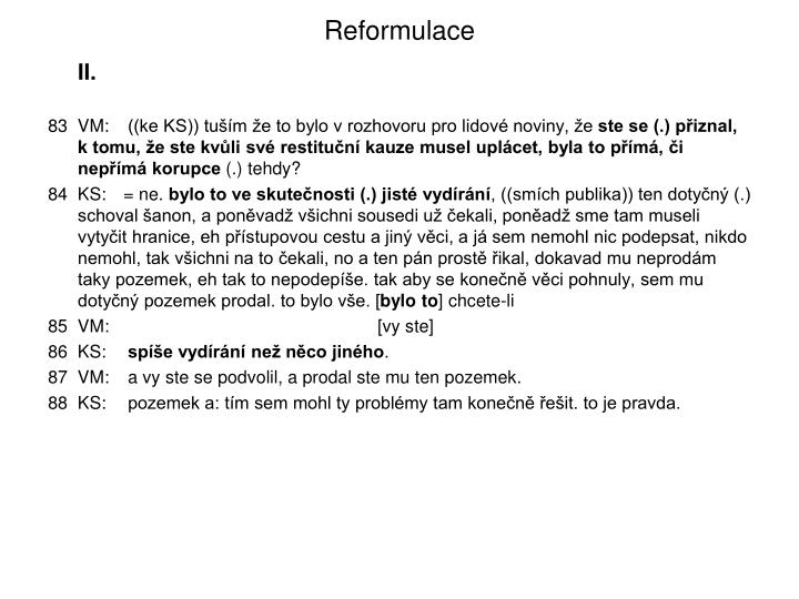 Reformulace