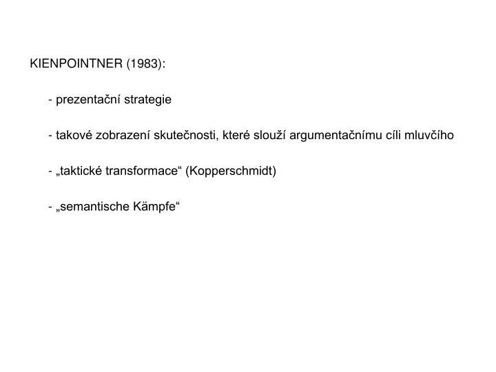 KIENPOINTNER (1983):