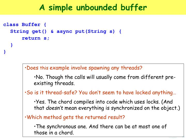 A simple unbounded buffer