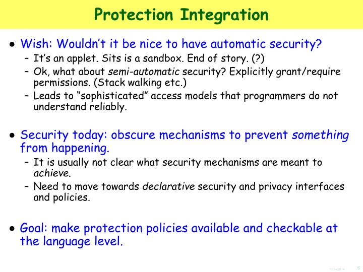 Protection Integration