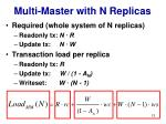 multi master with n replicas
