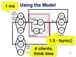 using the model1