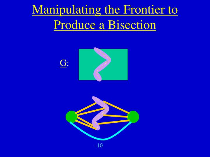 Manipulating the Frontier to Produce a Bisection