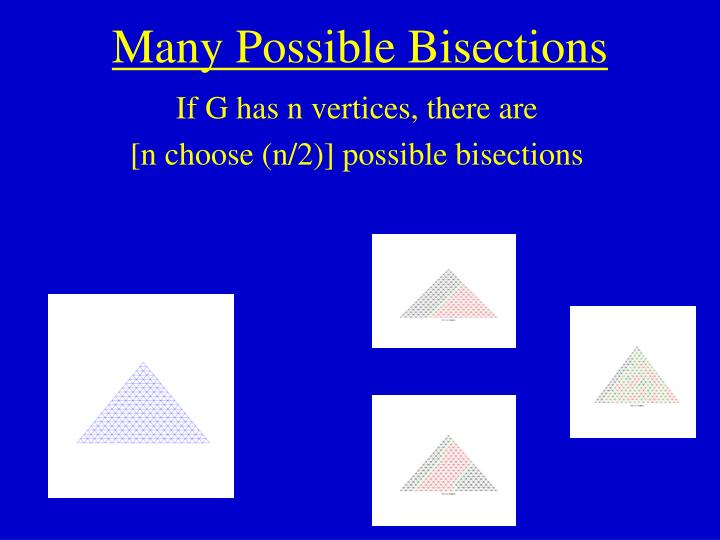 Many Possible Bisections