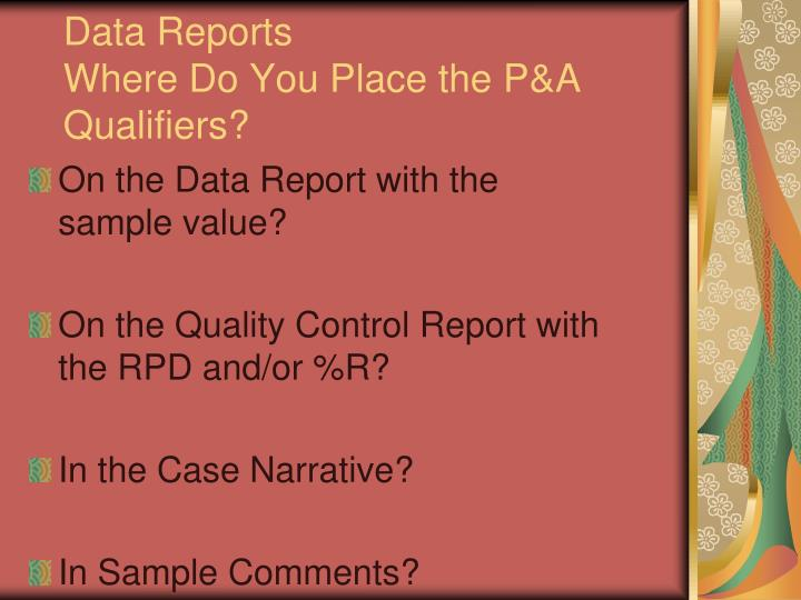 Data Reports