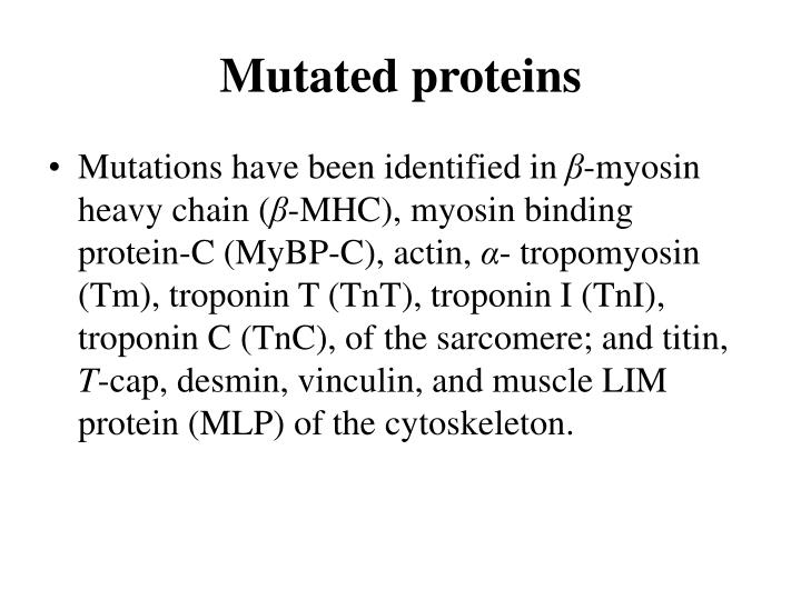 Mutated proteins