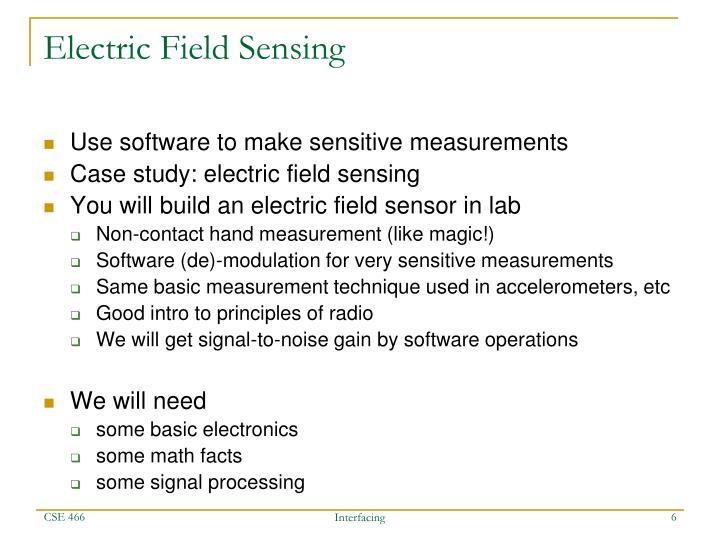 Electric Field Sensing