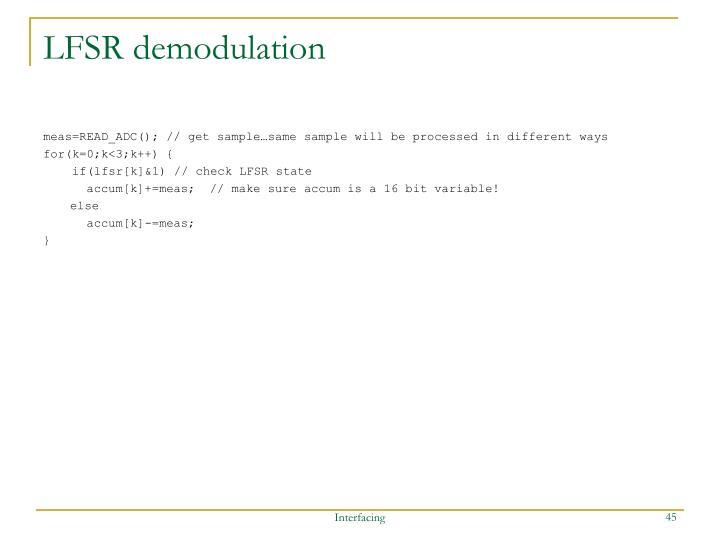 LFSR demodulation