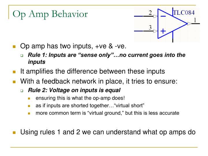 Op Amp Behavior