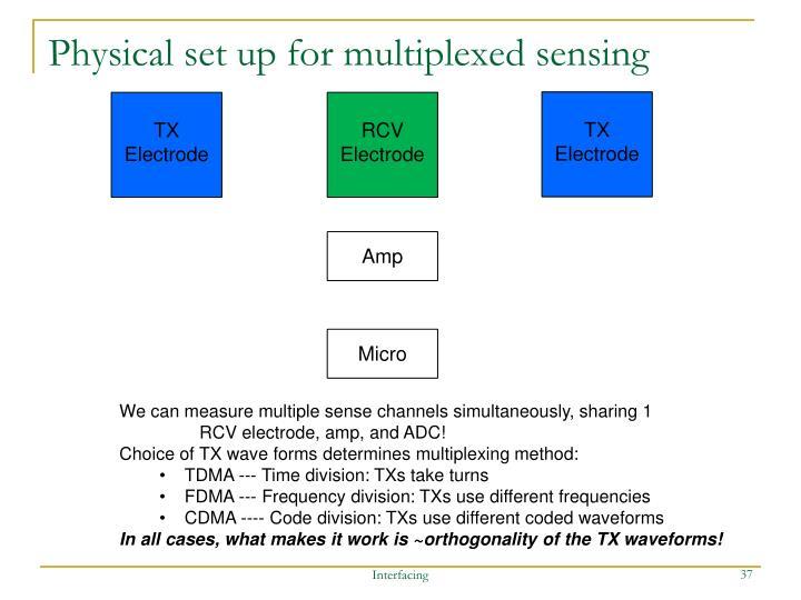 Physical set up for multiplexed sensing