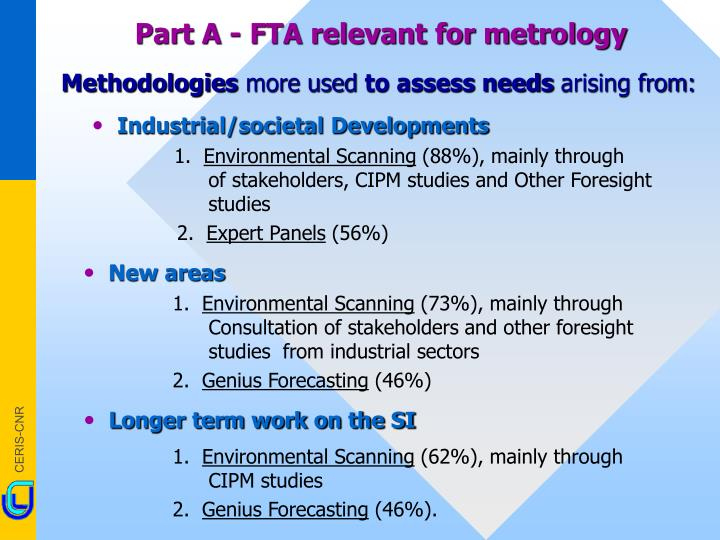 Part A - FTA relevant for metrology
