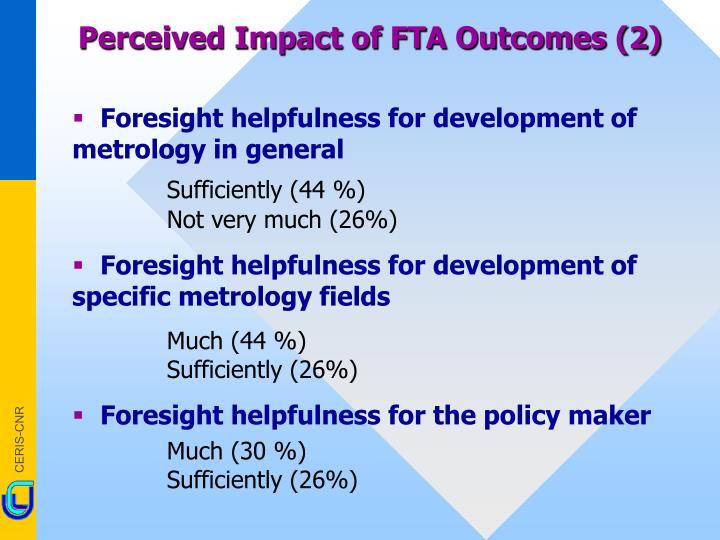 Perceived Impact of FTA Outcomes (2)