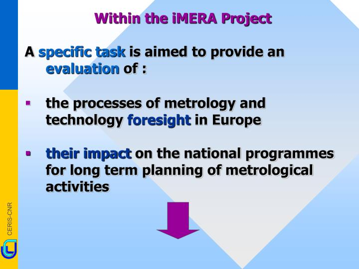 Within the iMERA Project