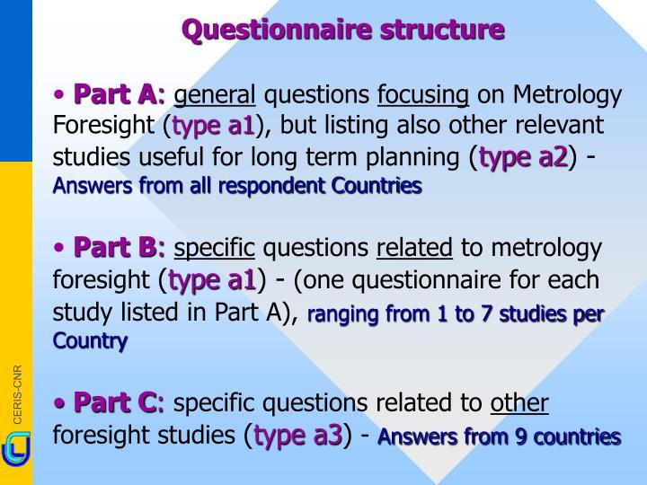 Questionnaire structure