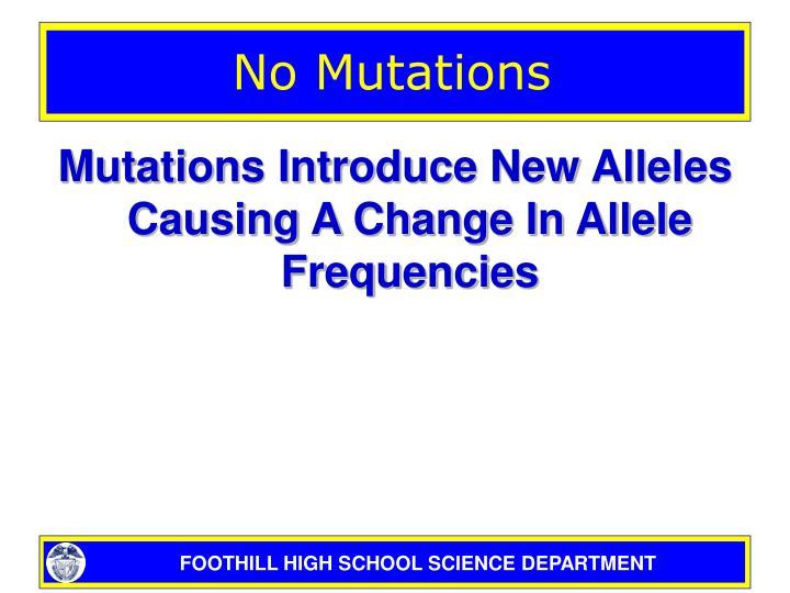 No Mutations
