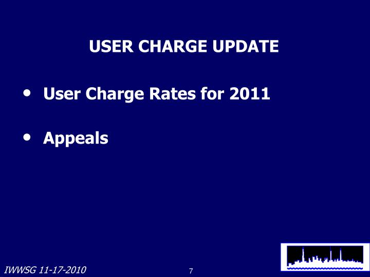 USER CHARGE UPDATE