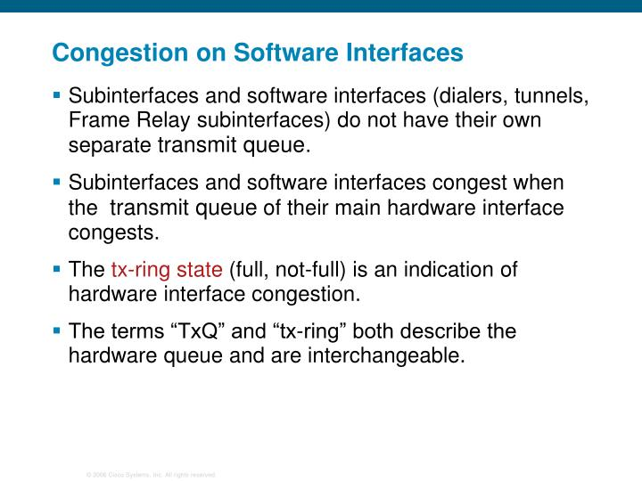 Congestion on Software Interfaces