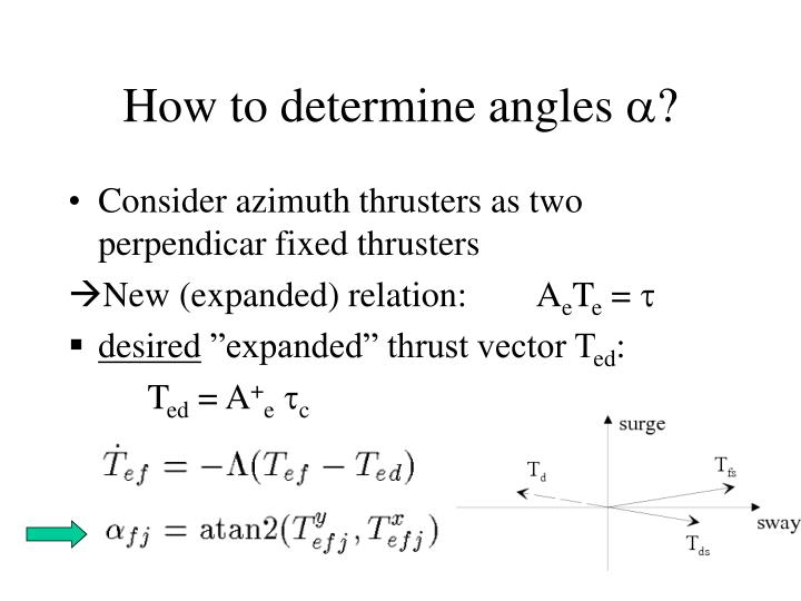 How to determine angles