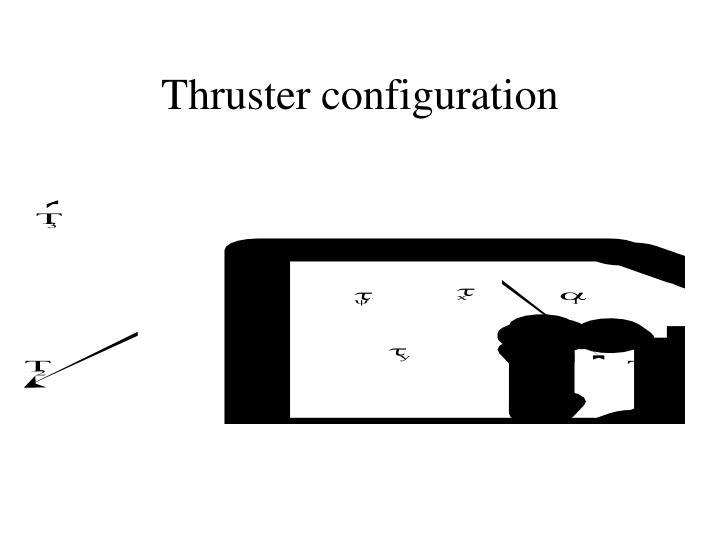 Thruster configuration