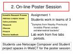 2 on line poster session